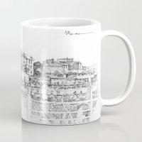 Spiagge a Pegli B&W Mug