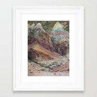 Calico Mountains Framed Art Print