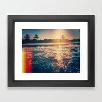cotton's sunset Framed Art Print
