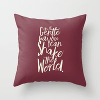 Kindness Quote By Gandhi… Throw Pillow