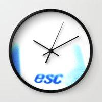 Esc Myself Wall Clock