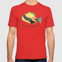 H Is For Humuhumunukunuk… Mens Fitted Tee Red SMALL