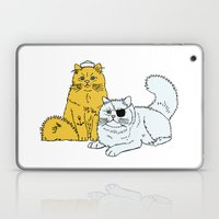 Navy Cats Laptop & iPad Skin