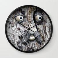 Tree Face Wall Clock