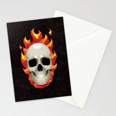Flaming Skull Stationery Cards