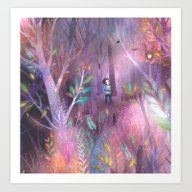 Art Print featuring Into The Forest by Lisa Evans