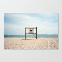 No Swimming Canvas Print