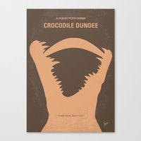 No210 My Crocodile Dundee minimal movie poster Canvas Print