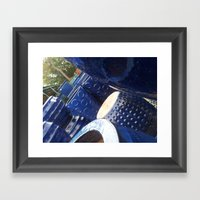 Blue Stack Framed Art Print