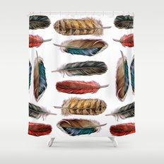 Country Feathers Shower Curtain