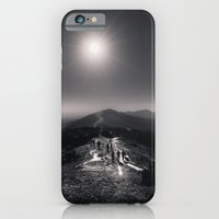 iPhone & iPod Case featuring Standing on a Mountain - Black and White Collection by Black and White Collection