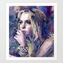 """""""Lindsay Lohan"""" Art Print"""