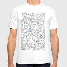 Doodle Do White SMALL Mens Fitted Tee
