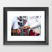 Greeting Fans Framed Art Print