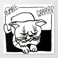 Grumpiest Cat Canvas Print