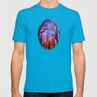 Moonrise Canyon Mens Fitted Tee Teal SMALL