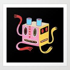Petit monstre cube  Art Print