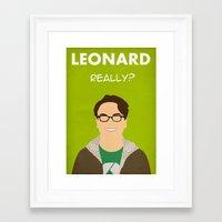 The Big Bang Theory - Leonard Framed Art Print