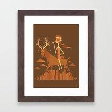 Summon the beast Framed Art Print