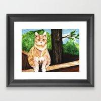 Senior Portrait Framed Art Print