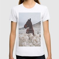 Snowy Horse Womens Fitted Tee Ash Grey SMALL