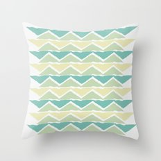 ocean triangles Throw Pillow