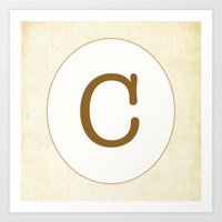 Vintage Letter Series - … Art Print