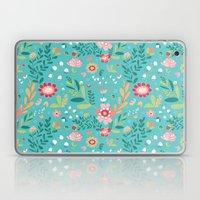 Teal Garden Hearts Laptop & iPad Skin