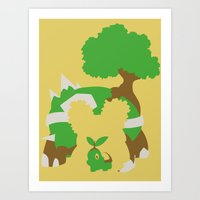Pocket Monster 387 388 and 389 Art Print