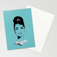 Audrey in Tiffany Stationery Cards