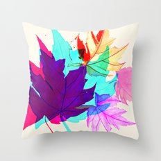 Maple Leaves Falling Throw Pillow