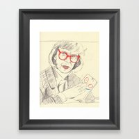 Log Lady With Plank Framed Art Print