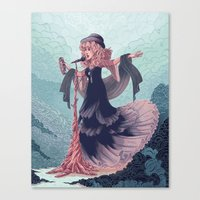 Sister Of The Moon Canvas Print