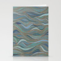 Wave Lines 1 Stationery Cards