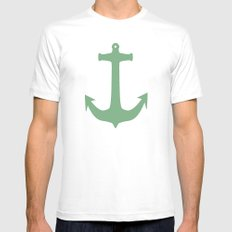 Anchors Away! Mens Fitted Tee White SMALL