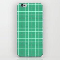 Grid (White/Mint) iPhone & iPod Skin