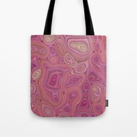 Mineralicious-Pink Agate Tote Bag