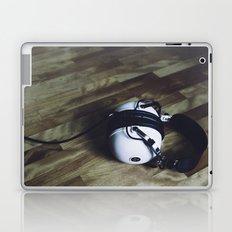 vintage headphone Laptop & iPad Skin