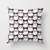LAZY  PANDA Throw Pillow