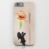 iPhone & iPod Case featuring Skelly Cat and Orange by David Finley