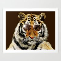 In The Eye Of The Tiger Art Print