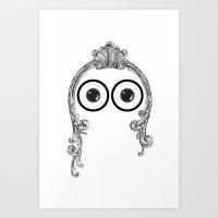Look Into Me Eyezz Art Print