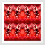 Here Be Dragons (fiery R… Art Print