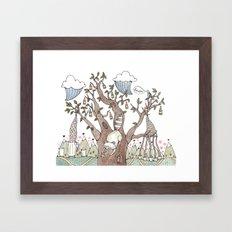 Portland Beer Tree Framed Art Print