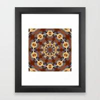 Blue Wood Kaleido Patter… Framed Art Print