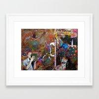 Evaporating on the Edges Framed Art Print
