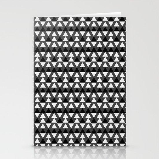 Black & White Triangles Stationery Card