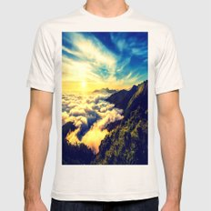 Mountains. Mens Fitted Tee Natural SMALL