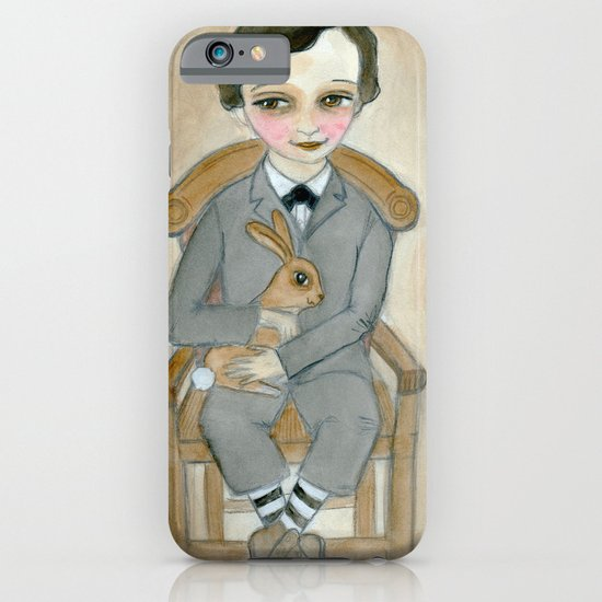 Nicolas - A Hand Painted Victorian Orphan Child Portrait iPhone & iPod Case