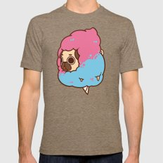 Puglie Cotton Candy Mens Fitted Tee Tri-Coffee SMALL